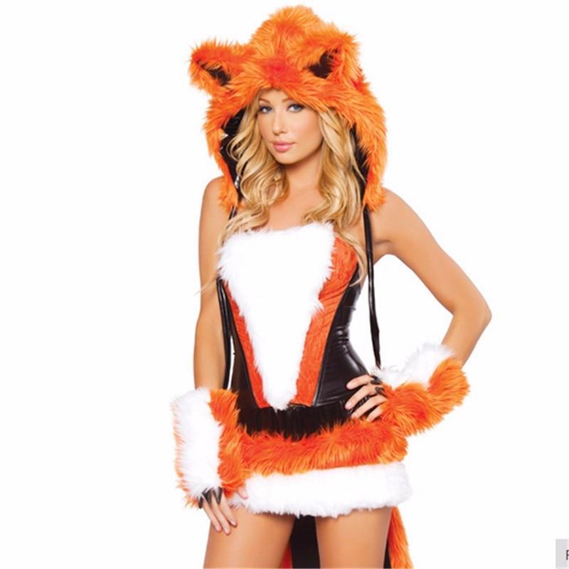 Vestido de fiesta de Halloween para mujer, Sexy, naranja, zorro, equipo de  disfraces de fantasía, Animal, Cosplay con cola grande cosplay dress fox  costumeanimal cosplay - AliExpress
