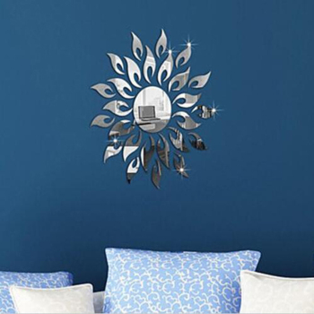 2020 New 3D Mirror Sun Flower Art Removable Wall Sticker Acrylic Mural Decal Home Room Decor Hot Sale 7