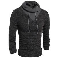 Sweater Pullover Men 2017 Male Brand Casual Slim Sweaters Men Soild Color Hedging Turtleneck Men S