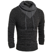 Sweater Pullover Men 2017 Male Brand Casual Slim Sweaters Men Soild Color Hedging Turtleneck Men'S Sweater XXL