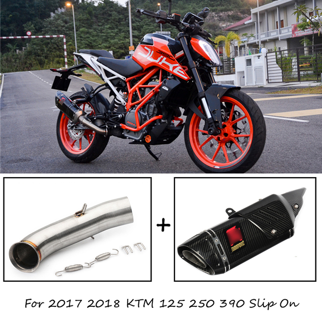 For 2017 2018 Ktm Duke 125 250 390 Motorcycle Exhaust System Stainless Steel Mid Link Pipe
