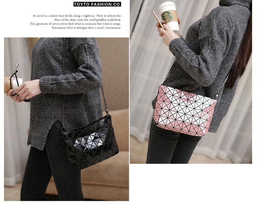 18 Famous Bao Bags Women Geometric Lingge Envelope Handbag Small Chain Clutch Ladies Shoulder Bags Messenger Bag Bao Bolsa 17
