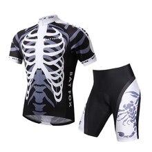 BATFOX Men Cycling Jersey Short Sleeve Summer Breathable Cycling Climbing Roller Skating Bike Jersey