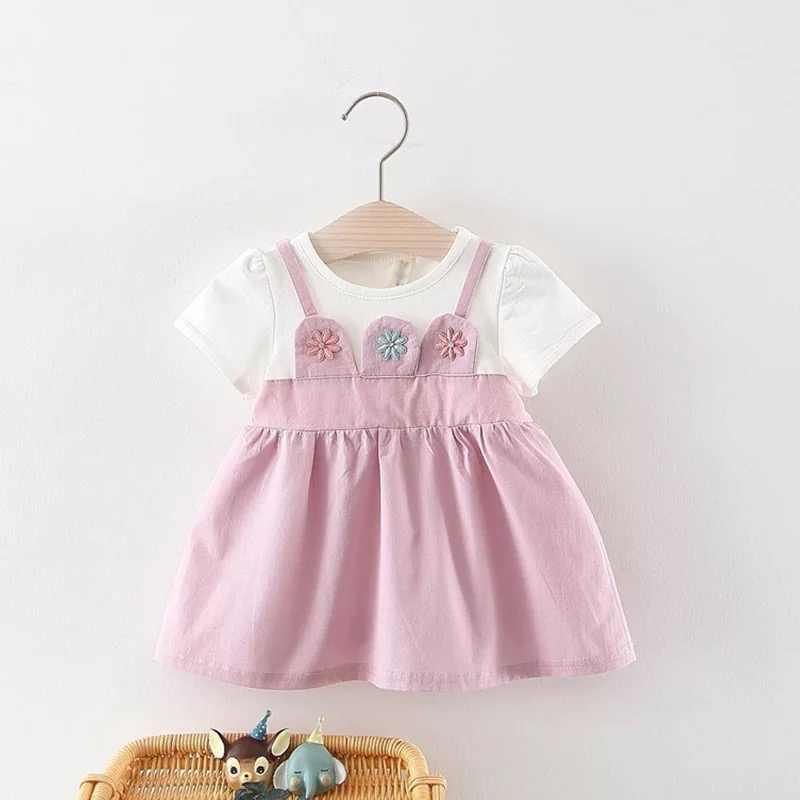 dea7250b93522 BNWIGE Summer Short Sleeve Baby Girls Dress For Girl Christening Birthday  Dress Newborn Toddler Dresses Kids Casual Clothes