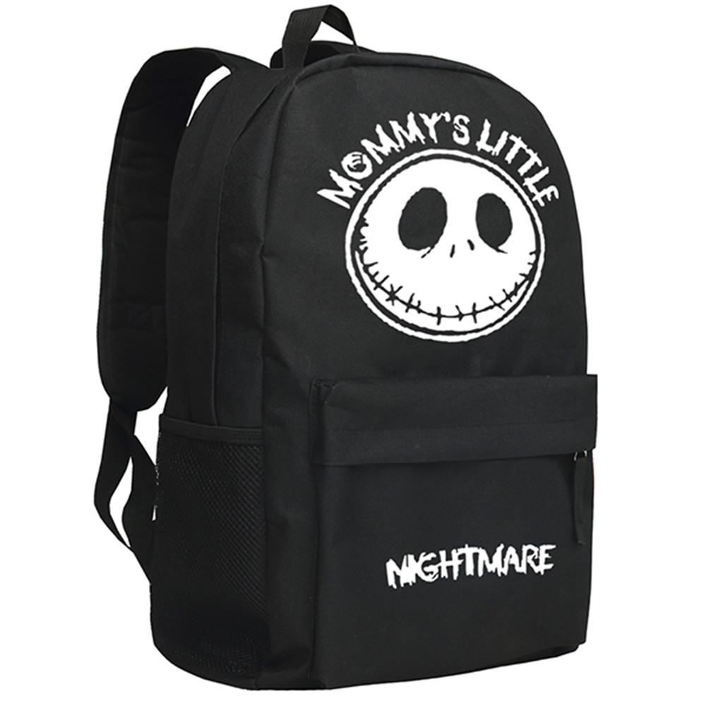 zshop the nightmare before christmas backpack american movie skull jack backpack children school bag christmas gift