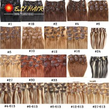 Clip in Human Hair Extensions 100g Brazilian Virgin Hair Clip in Extension Human Hair Clip Ins Real Hair Extensions Clip In