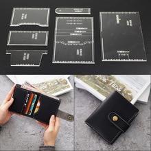1 conjunto modelo de couro casa handwork leathercraft costura padrão ferramentas acessório homem carteira padrão 9*11*1.5cm