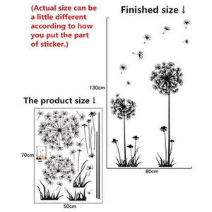 Image 5 - Hot black dandelion sitting room bedroom wall stickers household adornment wall stickers on the wall