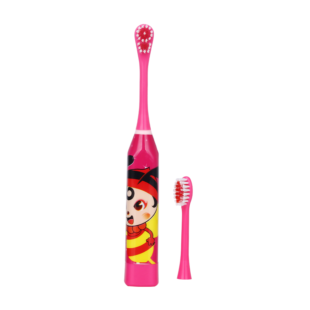 Детская электрическая зубная щетка с мультипликационным рисунком, двухсторонняя зубная щетка, электрическая зубная щетка или сменная щетка для детей