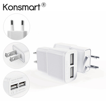 цена на 2-Ports USB Power Adapter Mobile Phone Travel Wall Charger for iPhone 4s 5 5s 6 Plus iPad iPod Samsung Galaxy S3 S4 S5 Note