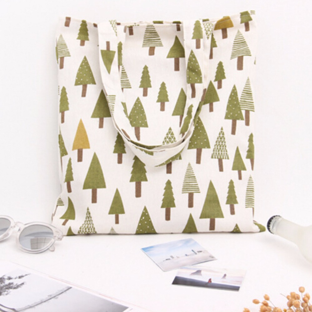 1Pc Canvas Environmental Protection Reusable Mom Shopping Bag Women's Handbags Tote Bag Shoulder Bags