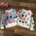 Bobo choses 2016 new kids clothes Spring girls boys long sleeve t shirt Boy Cartoon Graffiti Cotton tops 2-5T Children clothing