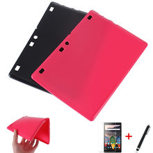 For lenovo tab 2 Tab2 A10 30 a10-30 a10-30f X30F X30L 10.1 inch Tablet Case For Lenovo TAB 2 A10-70 Soft Silicon cover+film+pen(China)