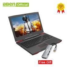 Bben G17 игровой ноутбук компьютер NVIDIA GTX1060 Intel i7-7700HQ 7th Gen. Kabylake 17,3 дюймов pro windows10 лицензированный DDR4 Оперативная память