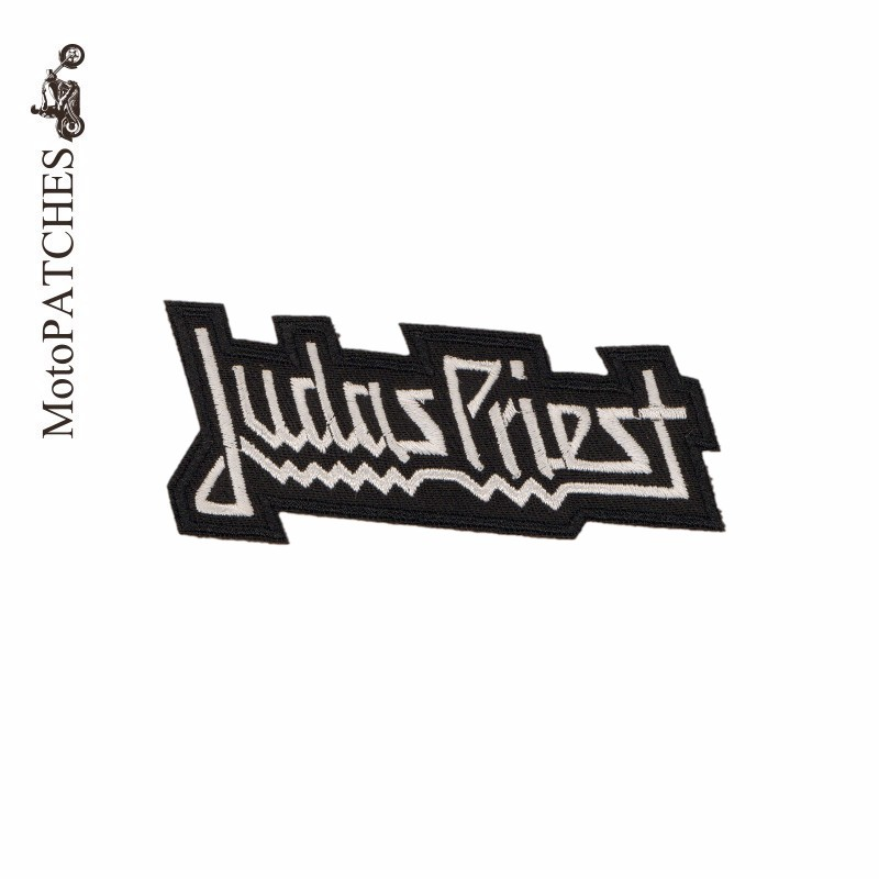 MotoPATCHES JUDAS PRIEST Motorcycle Jacket Biker Patches Embroidery Iron On Patches DIY Accessory Music Patches