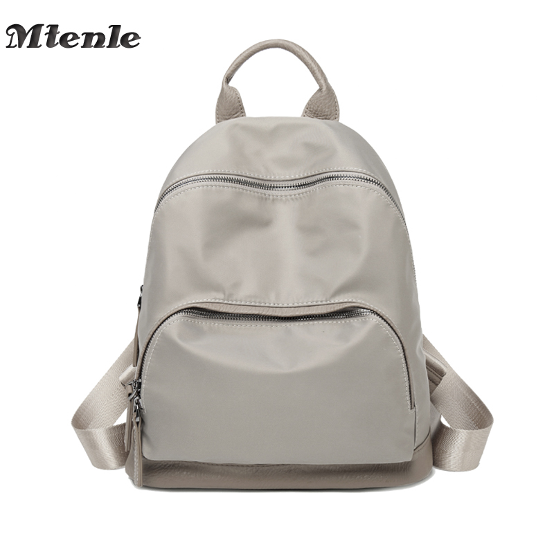 MTENLE Fashion Women Backpack Nylon College Student School Backpack Bag for Teenagers Mochila Escolar Casual Rucksack Daypack FI