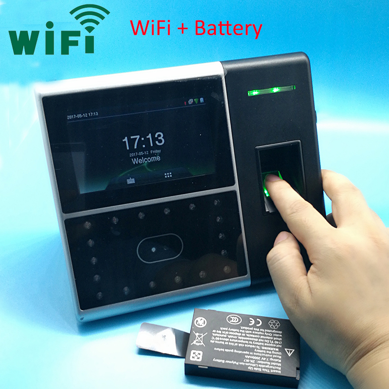 Wifi Biometric Face Time Attendance Time Clock Back Up Battery Time Attendance System Face& Finger Time Recording Iface302 Wifi