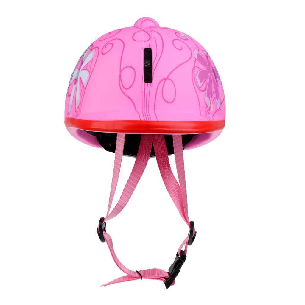 2Pcs Kids/Childs/Toddlers Adjustable Horse Riding Hat Ventilated Helmet, Pure Black+Pink