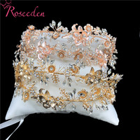 News Wedding Bridesmaid Headband Headpiece Handmade Crystal Royal Bridal Tiara Wedding Hair Accessories Jewelry Crowns RE3417