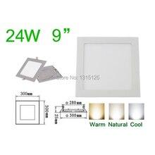 ส่งฟรี ที่มีคุณภาพสูงSMD2835  24วัตต์นำโคมไฟเพดานปิดภาคเรียน/สแควร์แผงไฟ300มิลลิเมตร,