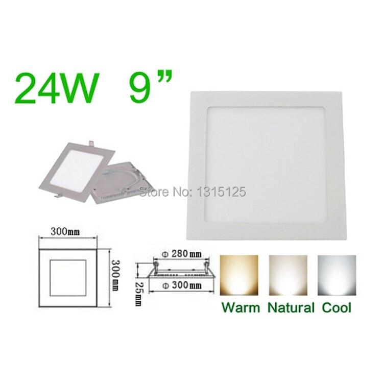 ᗜ LjഃAlta calidad SMD2835 24 W LED luz de techo ahuecada/luces del ...