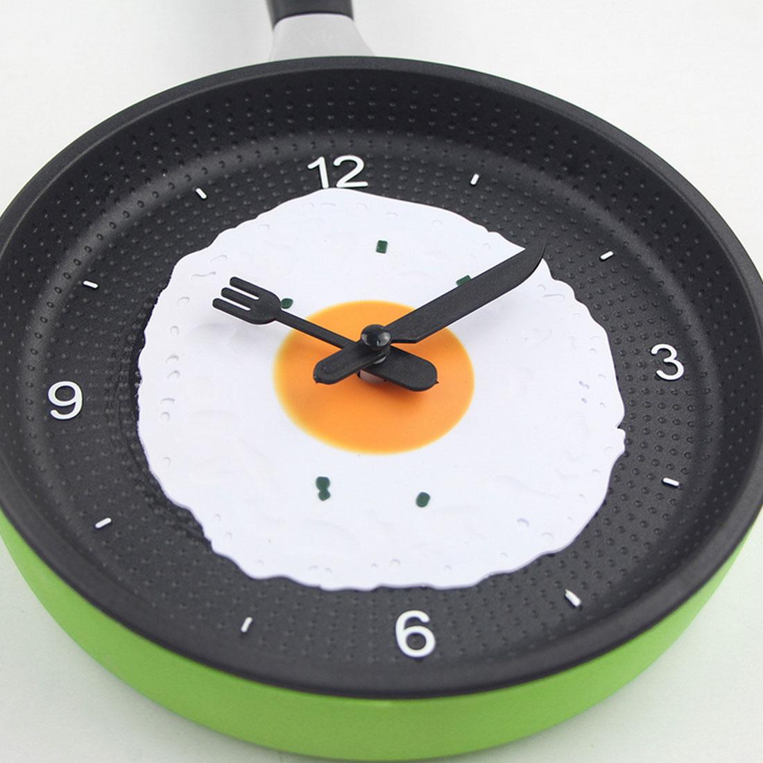 Majestic Design Fried Pan Clock Plastic Kitchen Wall Clock Homedecoration Quartz Time Clocks Horloge Desk Table Clocks Fromhome Design Fried Pan Clock Plastic Kitchen Wall Clock For