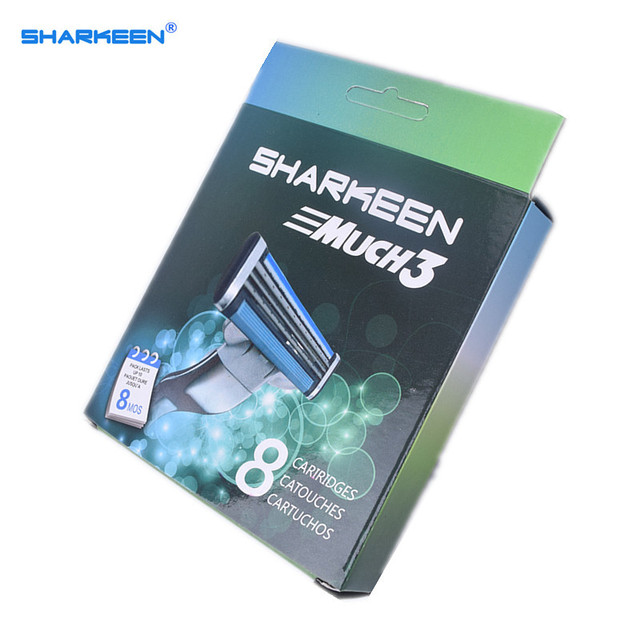 Sharkeen Бритвы Лезвия для Бритья Лезвия Для Мужчин 8 шт./упак. Стандарт RU & ЕС и США