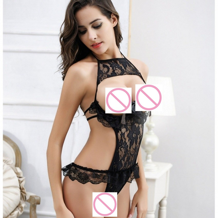 2017 Rose Flower Teddy Sleepwear Women Lenceria Sexy Lingerie Hot Erotic Lingerie Open Crotch Sexy Sexy Nightgowns in Sexy Costumes from Novelty Special Use