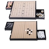 HIPS high impact plastic material magnetic Chinese chess 19 road Go two in one game chess entertainment educational toys