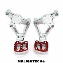 лучшая цена MKLIGHTECH For HONDA X-ADV XADV 300 750 1000 2017-2019 Motorcycle Folding Pedals Rear Footrests Passenger Footrests Foot Pegs