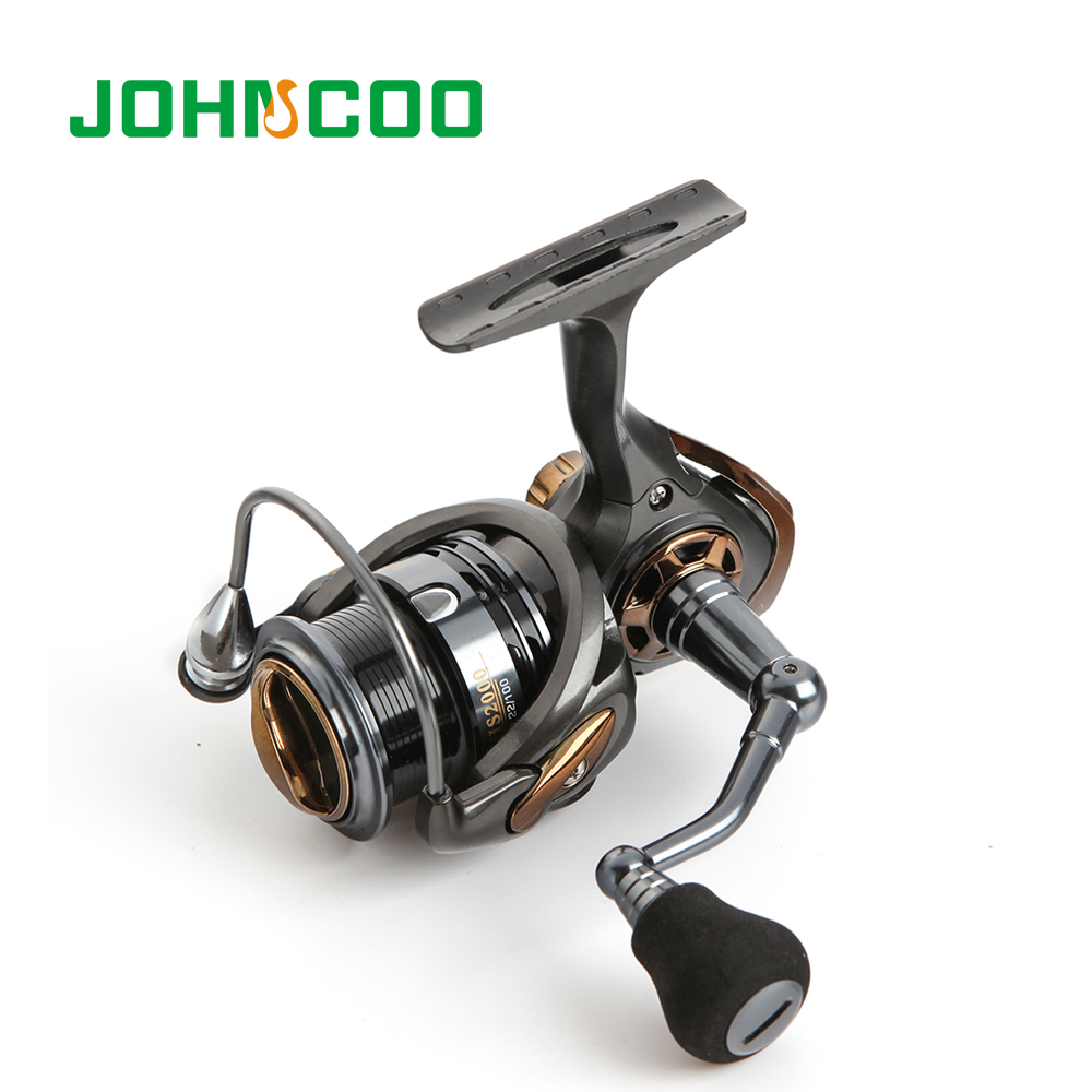JOHNCOO High Speed Spinning Fishing Reel HS2000/3000/5000 Carbon Reel Max Drag 6.0-6.5kg CNC Aluminum Spool Carp Fishing Tackle