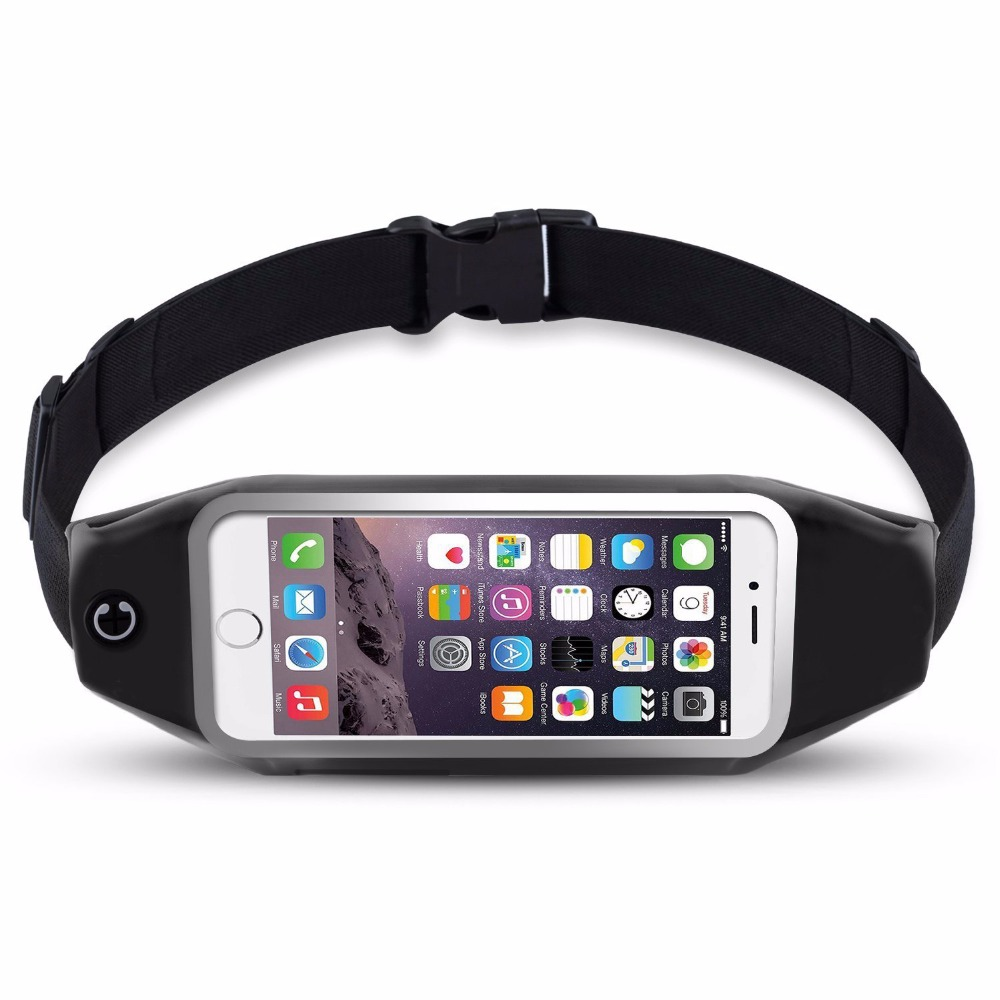 New Outdoor Running Waist Bag Waterproof Mobile Phone Holder Jogging Telephone Belt Belly Bag Gym Fitness Bag Sport Accessories