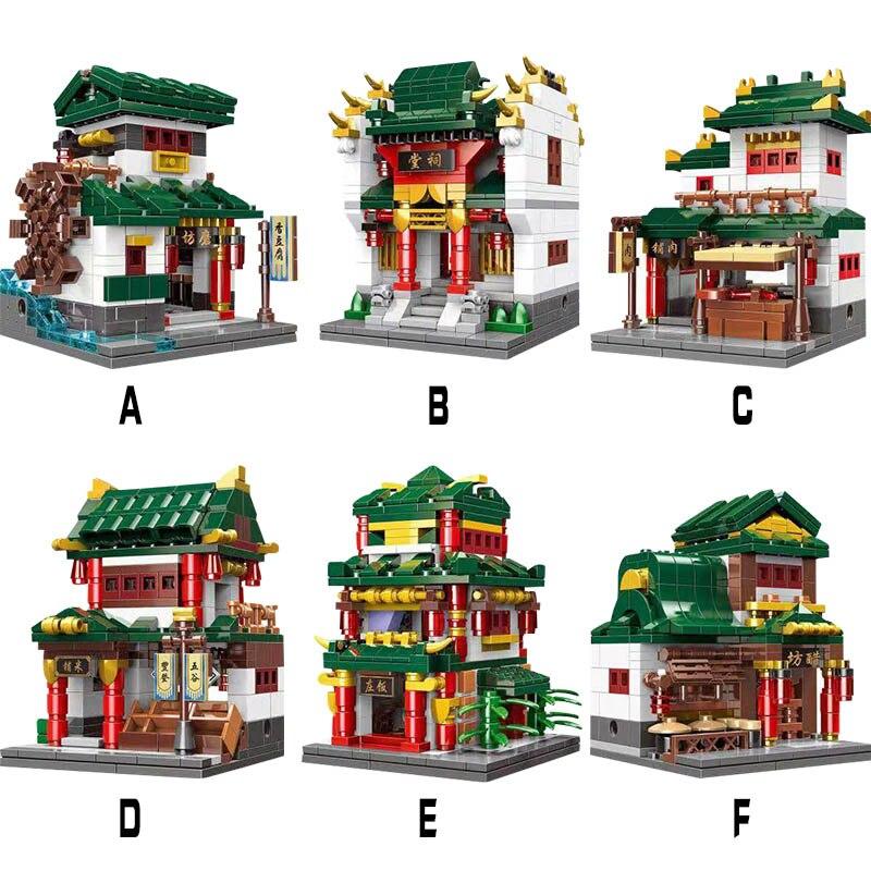 XingBao 01103 Creator Series 6 in 1 จีน Street Set Building Blocks อิฐคลาสสิกจีนสถาปัตยกรรม Compatilbe legoings-ใน บล็อก จาก ของเล่นและงานอดิเรก บน   3