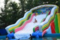 Factory direct inflatable castle slides Pool slide, large water park Large pool Ocean World ship pool  KY-722