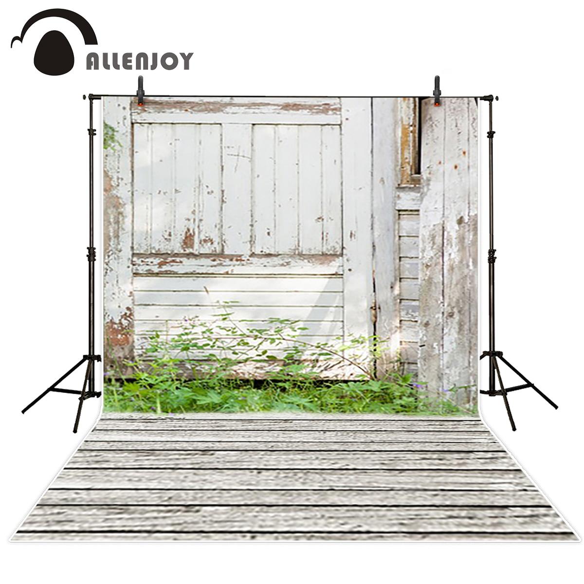 Allenjoy font b photo b font background White wood farm with grass fotografia backgrounds for font