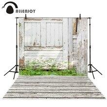Allenjoy photo background White wood farm with grass fotografia backgrounds for photo studio camera fotografica profissional