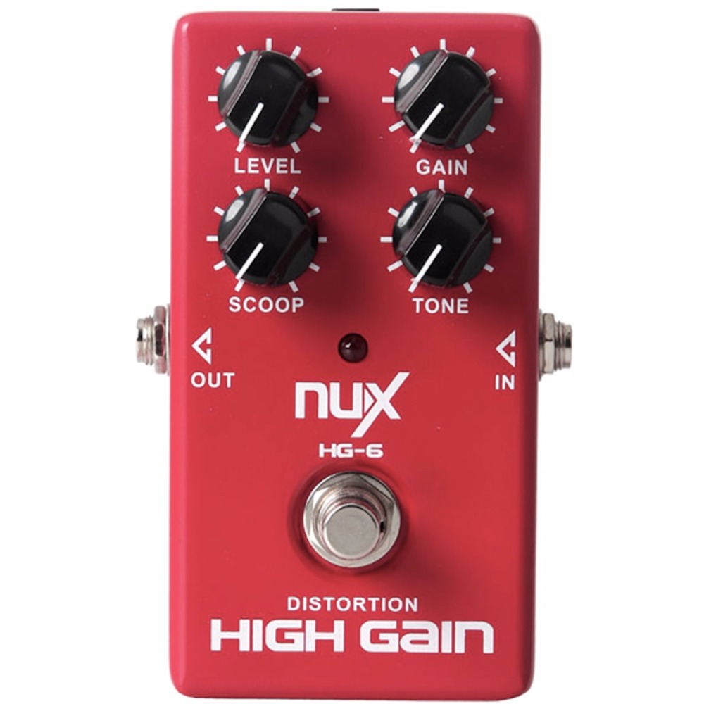 NUX HG-6 Distortion High Gain Electric Guitar Effect Pedal Heavy Metal Rock Style True Bypass effect pedal nux hg6 distortion guitar effect pedal modern high gain effects true bypass 3 gain stages