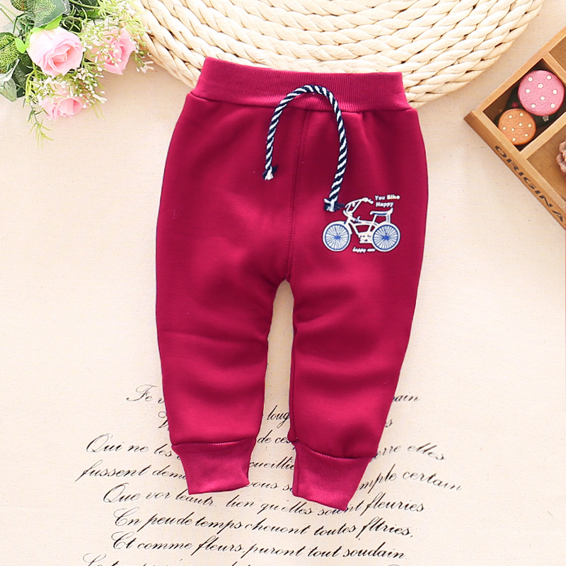 Autumn-and-winter-and-warm-baby-pants-1-piece-cotton-cartoon-bicycle-baby-pants-0-3-year-baby-boy-girls-pants-1