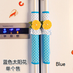 New european style pink and blue lace flower refrigerator handle cover fridge door handle cloth kitchen.jpg 250x250