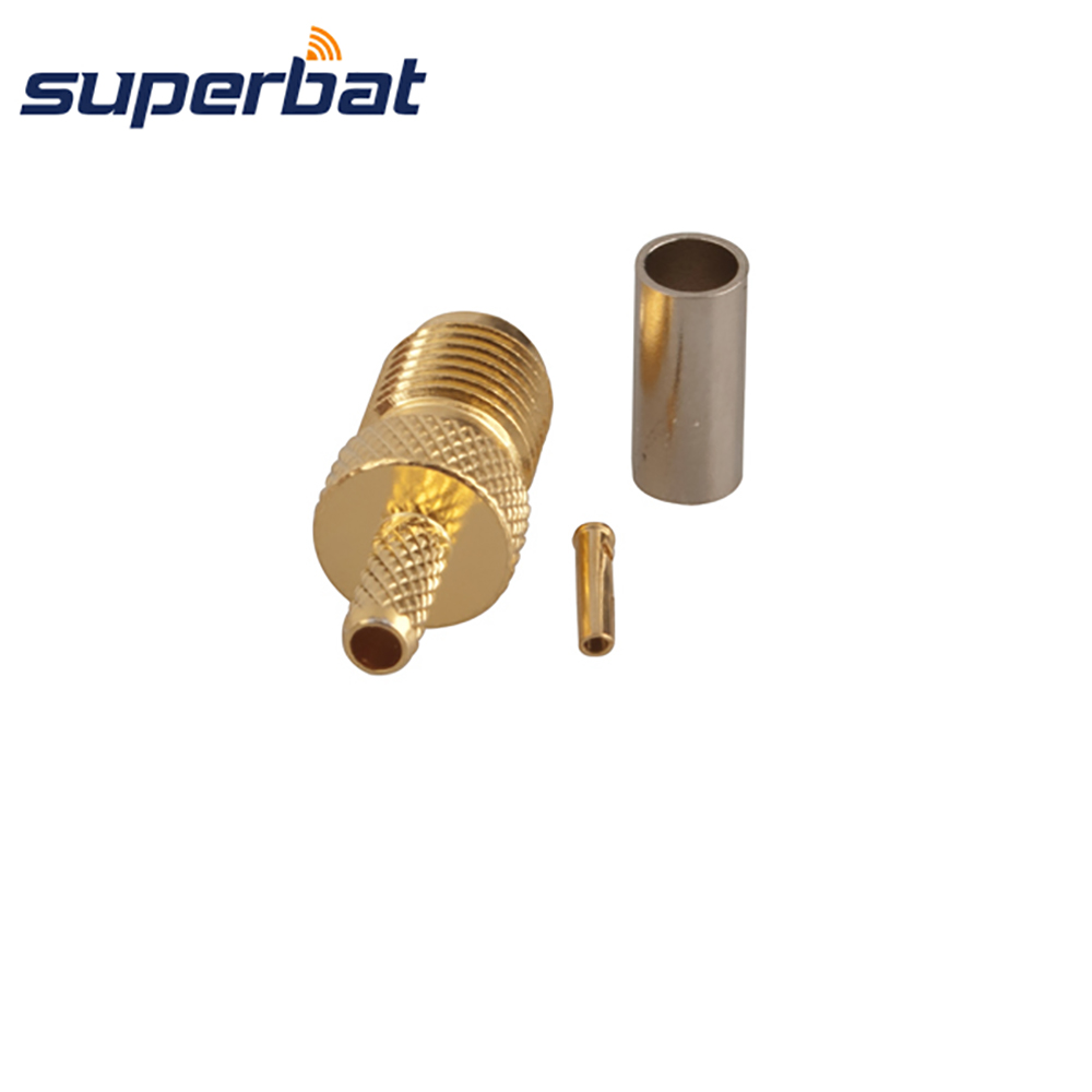 Superbat SMA Jack Crimp for RG174,RG188A,RG316,LMR100 Coaxial Cable Straight