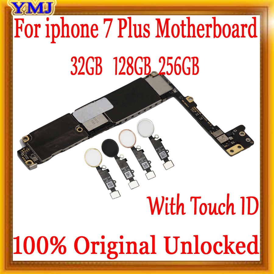 Factory Unlocked For Iphone 7 Plus Motherboard With / Without Touch ID,No ICloud For Iphone 7Plus 7P Mainboard,100% Original