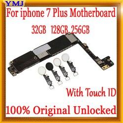 Заводская разблокированная материнская плата, для iPhone 7 Plus, с или без идентификации отпечатков пальцев, без iCloud, системная плата, 100% оригинал