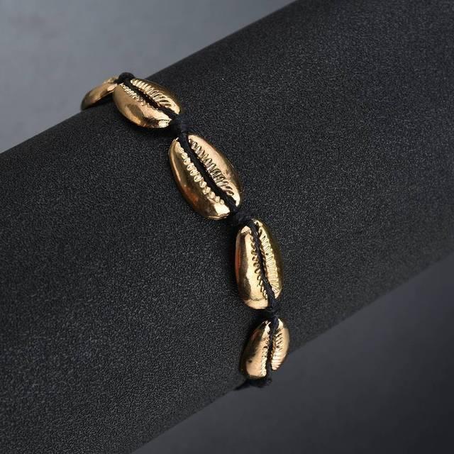 Летняя мода металлический сплав оболочка браслет женский богемный