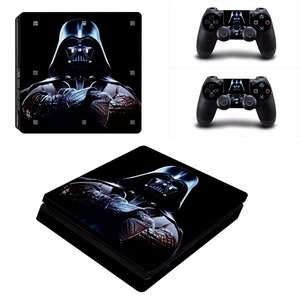 Image 4 - Black Batman Skin Sticker Cover Protector Vinyl Sticker For PS4 Slim Console Kinect and 2 Controller Skin