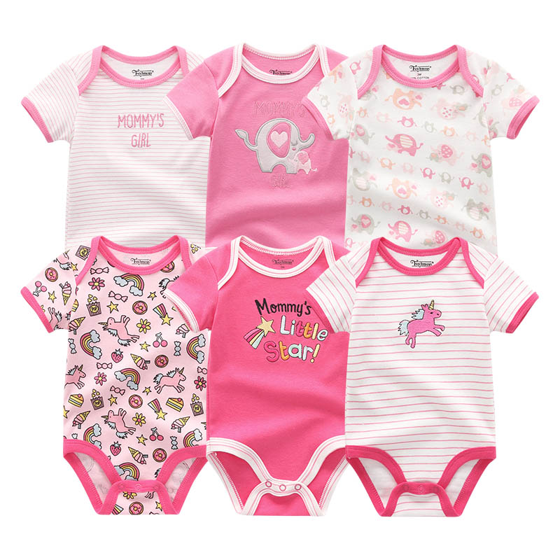 2019 6PCS Lot Unisex Unicorn Baby Boy Clothes Cotton Kids Clothes Newborn Rompers 0 12M Baby 2019 6PCS/Lot Unisex Unicorn Baby Boy Clothes Cotton Kids Clothes Newborn Rompers 0-12M Baby Girl Clothes Roupa de bebe