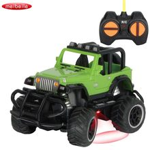 1:43 Super Remote Control 4CH Car Road Vehicle SUV Jeep Control RC Toy Car For small Kids Gift Color randomly(China)