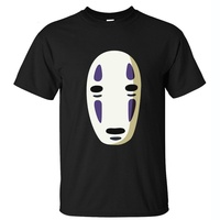 Ghibli Spirited Away Mr Geen Gezicht Mannen vrouwen Katoenen T-shirt korte mouw zomer tops Zwart Wit kleding
