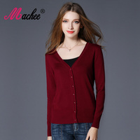 2017 New Top Selling Spring Woman Sweater Tops Fashion Knitted Long Sleeve V Neck Loose Plus
