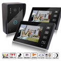 "2.4G 7"" Wireless Video Touch Key Camera Door Phone Doorbell Intercom IR System Night Vision Waterproof With 2 Monitors"