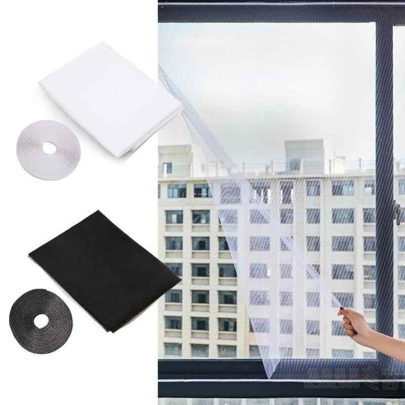 DIY Fliegen Insekt Netze Türen Und Windows Net Pocket Mesh Vorhang Protector Fliegen Vorhang Insekt Moskito Bildschirm Unsichtbare
